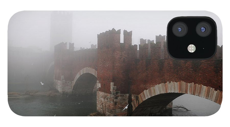 Arch IPhone 12 Case featuring the photograph Castelvecchio Bridge by Stefano Zuliani Photo