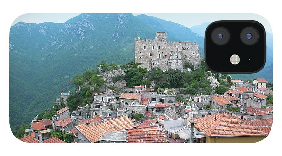 Tranquility IPhone 12 Case featuring the photograph Castelvecchio Di Rocca Barbena by Photo By Randi Larsen