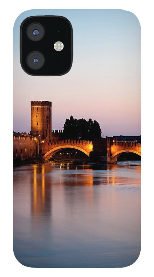 "Built Structure IPhone 12 Case featuring the photograph Castelvecchio Or &quotold Castle"" by Holgs"