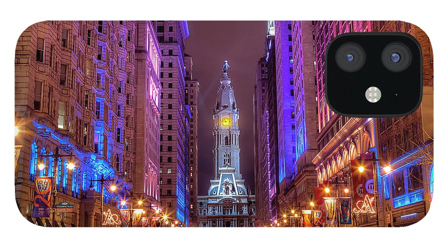 Land Vehicle IPhone 12 Case featuring the photograph Center City Philadelphia by Eric Bowers Photo