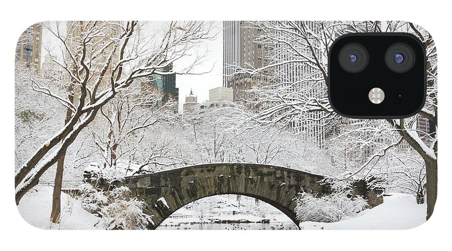 Snow IPhone 12 Case featuring the photograph Central Park, New York by Veni