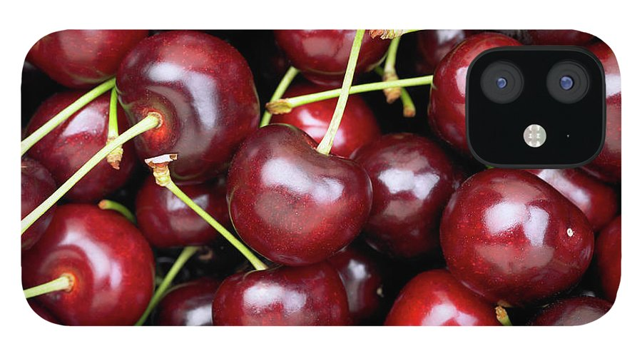 Cherry IPhone 12 Case featuring the photograph Cherries by Maria Toutoudaki