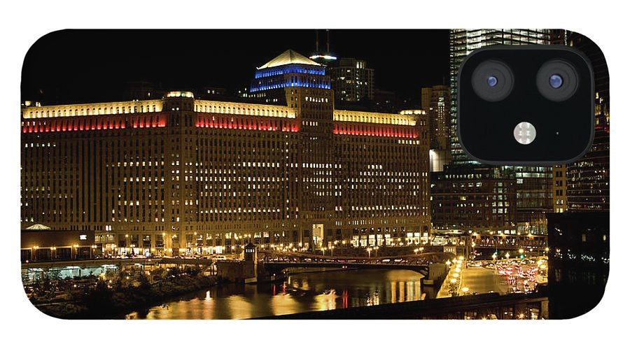 Chicago River IPhone 12 Case featuring the photograph Chicago Merchandise Mart by Helpinghandphotos