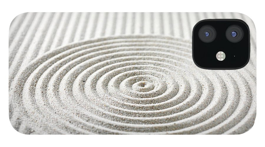 In A Row IPhone 12 Case featuring the photograph Circles And Lines In Sand by Wragg