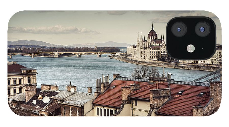 Tranquility IPhone 12 Case featuring the photograph Cityscape Of Budapest by By Matthew Heptinstall