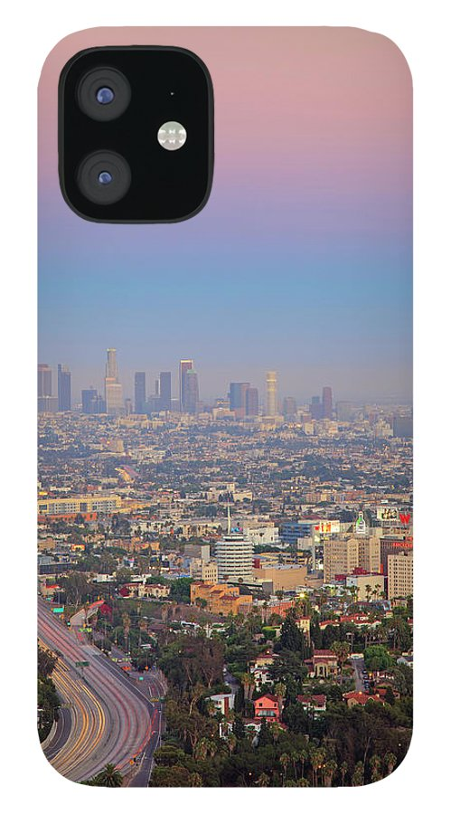 California IPhone 12 Case featuring the photograph Cityscape Of Los Angeles by Eric Lo