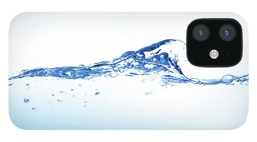 Purity iPhone 12 Case featuring the photograph Clear Blue Water Splashing, Ripples And by Pixedeli