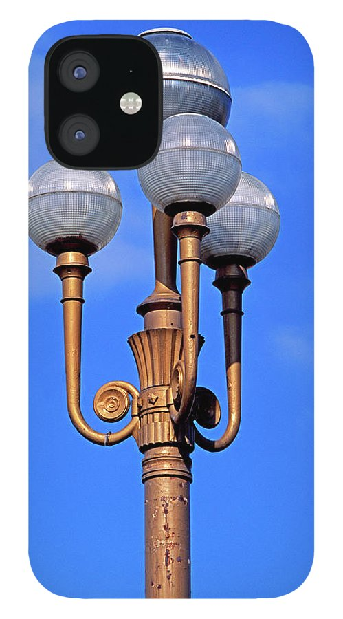 French Riviera IPhone 12 Case featuring the photograph Closeup Of A Lamp by Murat Taner