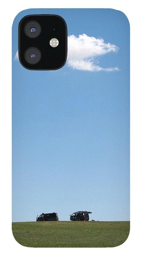 Grass iPhone 12 Case featuring the photograph Cloudy by Wilhelm Bénard