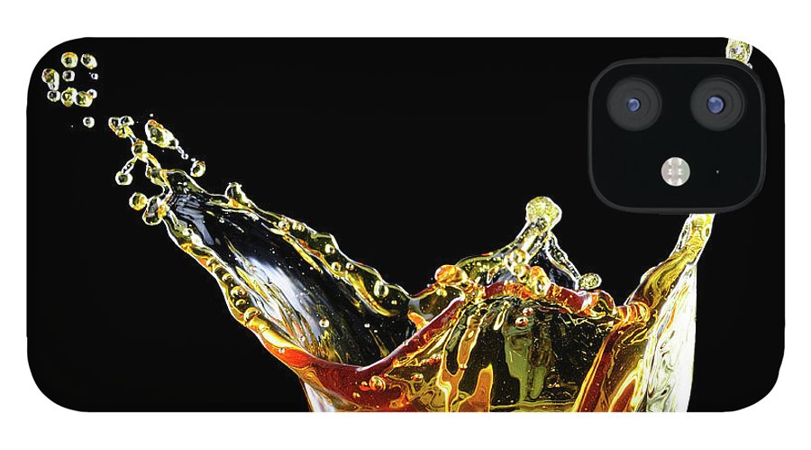 Alcohol IPhone 12 Case featuring the photograph Cocktail With Big Splash In A Tumbler by Chris Stein