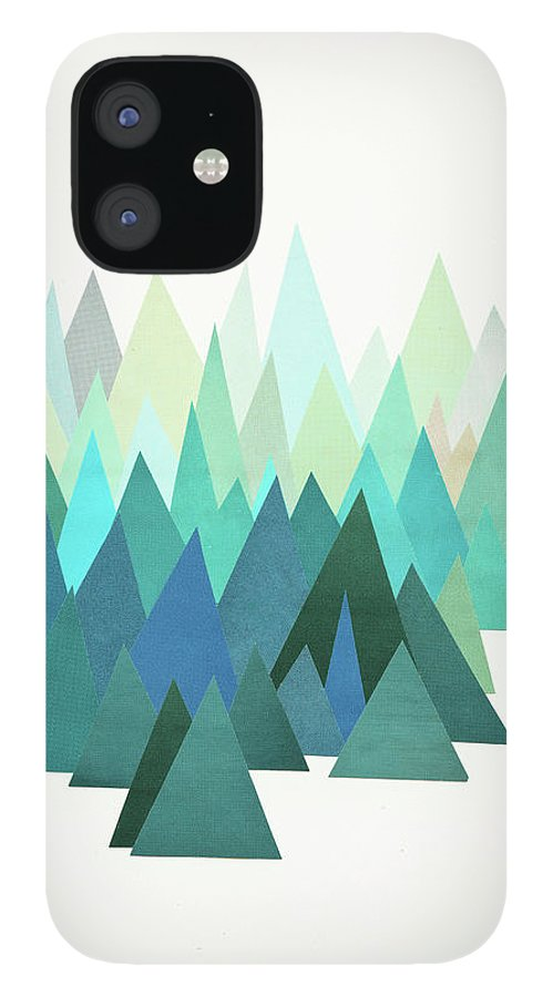 Mountains IPhone 12 Case featuring the mixed media Cold Mountain by Cassia Beck