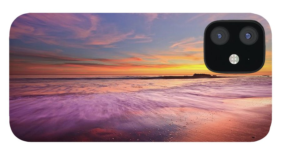 Scenics IPhone 12 Case featuring the photograph Color Splash At Sunset, Laguna Beach by Eric Lo
