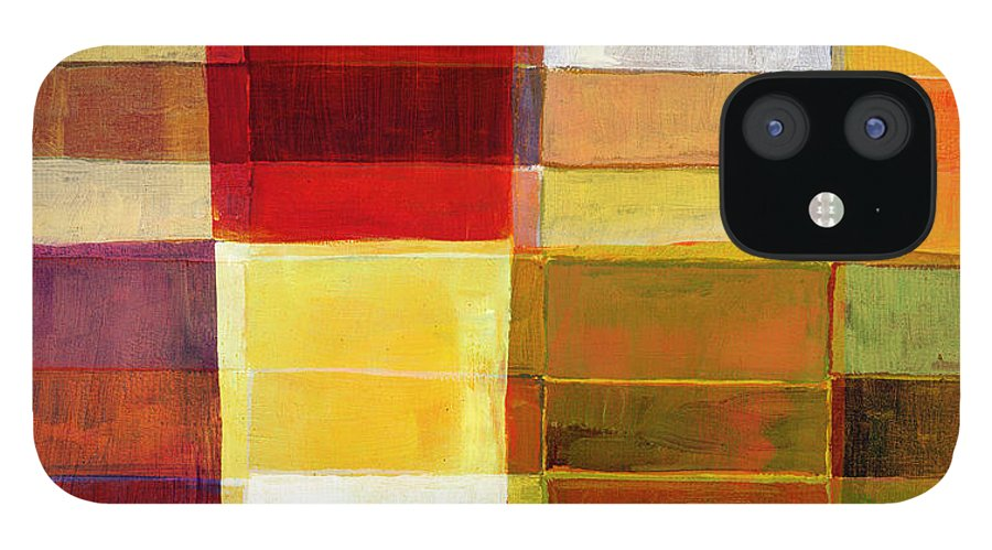 Rectangle IPhone 12 Case featuring the photograph Colorful Painted Block Pattern by Qweek