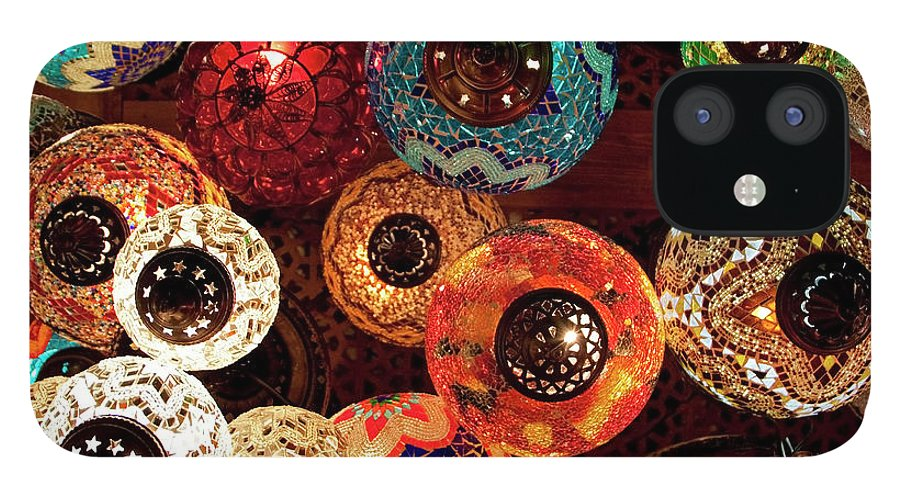 Antique Shop IPhone 12 Case featuring the photograph Colorful Turkish Lanterns From The by Wldavies