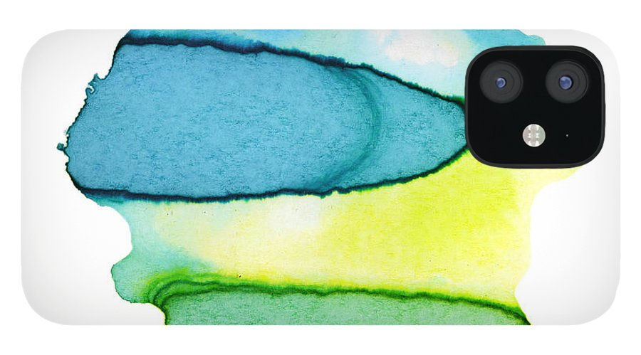 Watercolor Painting IPhone 12 Case featuring the digital art Colorful Watercolor Paint Paper Texture by 4khz