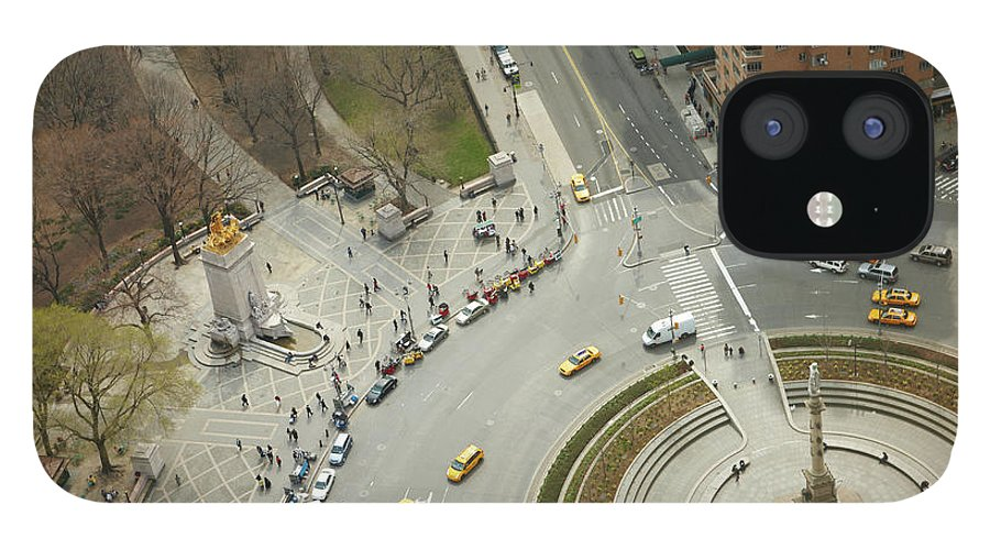 Apartment IPhone 12 Case featuring the photograph Columbus Circle And Cenral Park by Andy Ryan