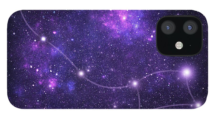 Dust iPhone 12 Case featuring the photograph Constellations. Ursa Minor Umi by Sololos