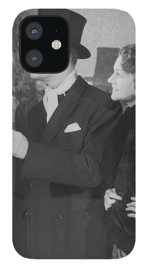 Young Men IPhone 12 Case featuring the photograph Couple In Formal Wear Showing Pass To by Fpg