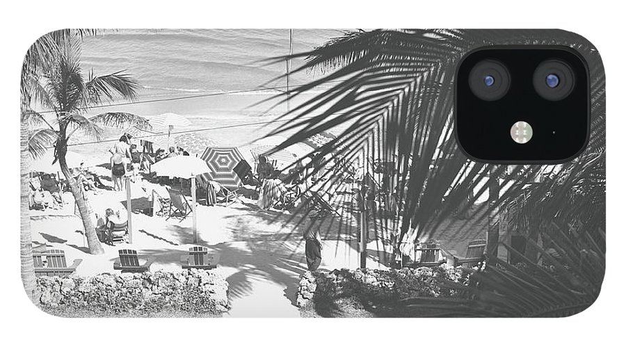 Heterosexual Couple iPhone 12 Case featuring the photograph Couple Walking In Path Towards Beach by George Marks
