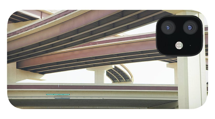 Crisscross iPhone 12 Case featuring the photograph Crisscrossing Freeway Overpasses by Siri Stafford