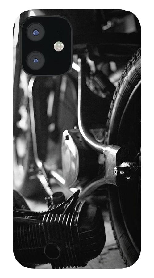 Engine iPhone 12 Case featuring the photograph Custom Motorcycle by Alexey Bubryak