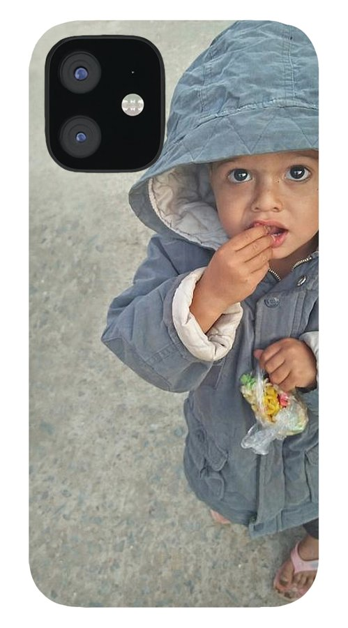 Cute IPhone 12 Case featuring the photograph Cute baby by Imran Khan