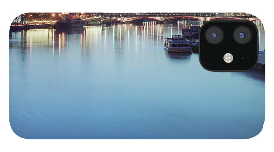 Blackfriars Bridge iPhone 12 Case featuring the photograph Dawn On The Thames Xxl by Beholdingeye