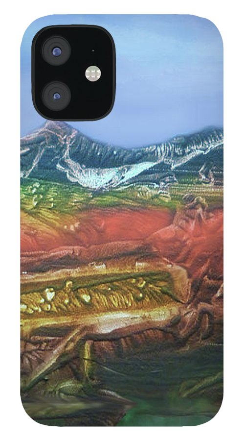 Otto Rapp IPhone 12 Case featuring the digital art Decalcomania 2019-05-21 by Otto Rapp
