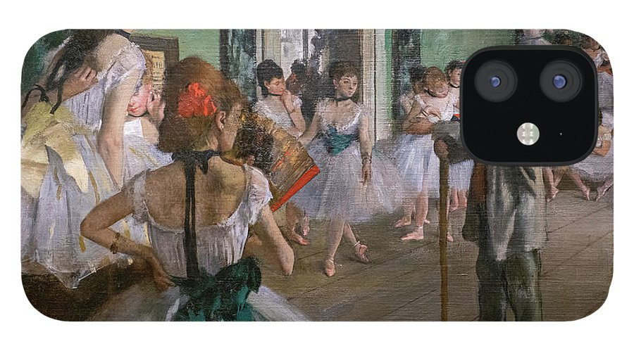 Dance IPhone 12 Case featuring the painting Degas, The Dance Class Detail by Edgar Degas