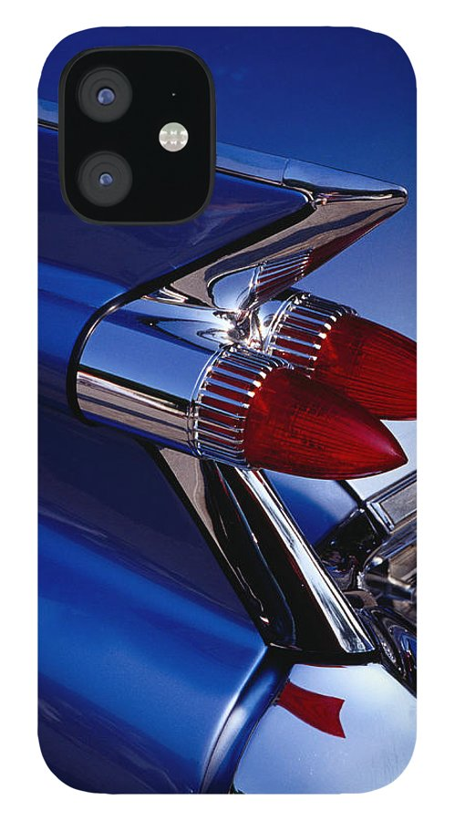 Silver Colored IPhone 12 Case featuring the photograph Detail Of An American Cadillac, Eze by Richard I'anson