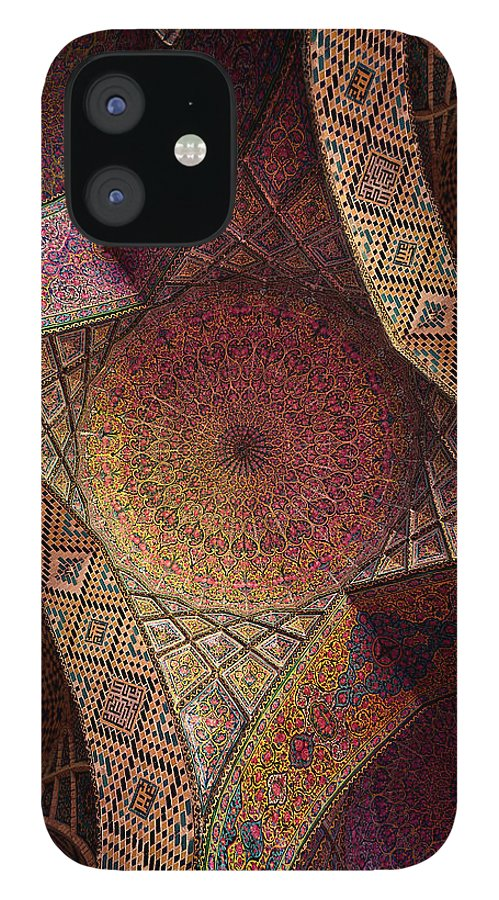 East IPhone 12 Case featuring the photograph Detail Of The Ceiling Tilework by Len4foto