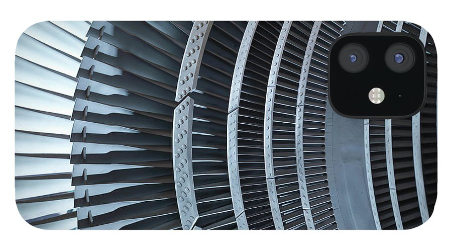 Manufacturing Equipment IPhone 12 Case featuring the photograph Detail Of Turbine by Monty Rakusen