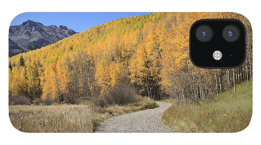 Scenics iPhone 12 Case featuring the photograph Dirt Road In The Elk Mountains, Colorado by John Kieffer