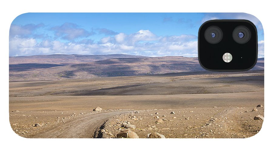 Scenics IPhone 12 Case featuring the photograph Dirt Road Sprengisandur Central Iceland by Mlenny