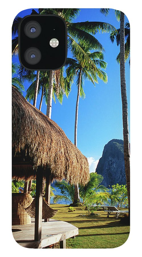 Tropical Tree iPhone 12 Case featuring the photograph Dolarog Beach Resort With Inabuyatan by Dallas Stribley