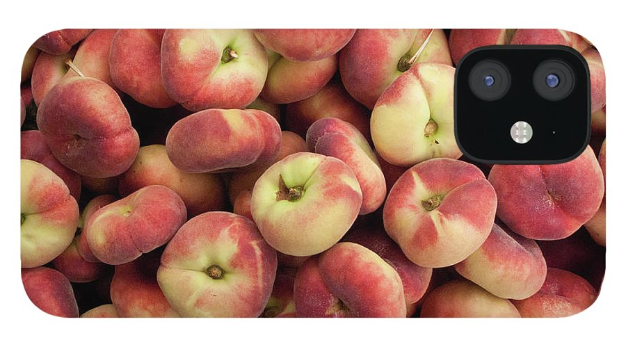 Retail IPhone 12 Case featuring the photograph Donut Peaches At A Farmers Market by Bill Boch