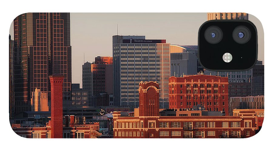 Downtown District IPhone 12 Case featuring the photograph Downtown Kansas City by Eric Bowers Photo