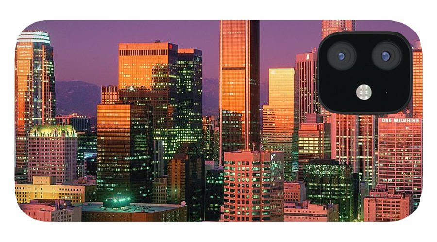 Shadow IPhone 12 Case featuring the photograph Downtown Los Angeles Skyline, California by Visionsofamerica/joe Sohm