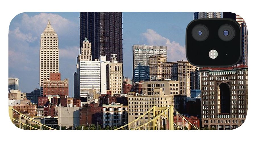 Downtown District IPhone 12 Case featuring the photograph Downtown Pittsburgh Panorama From Pnc by Photo By Paul D. Toth