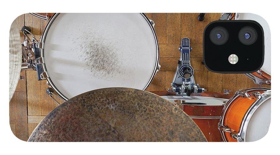 Berlin IPhone 12 Case featuring the photograph Drum Kit Arrangement by Halfdark