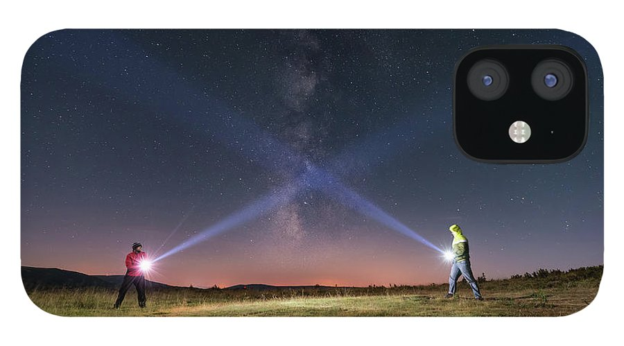 People IPhone 12 Case featuring the photograph Duel Of Light by Carlos Fernandez