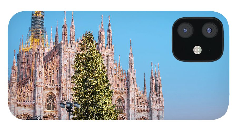Gothic Style IPhone 12 Case featuring the photograph Duomo Di Milano At Christmas by Mmac72