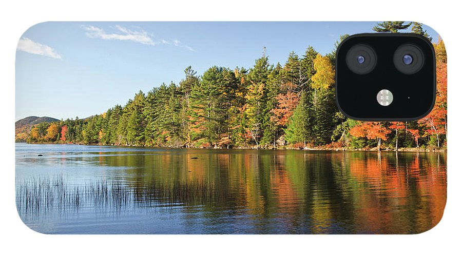 Scenics IPhone 12 Case featuring the photograph Eagle Lake Autumn Morning, Acadia by Picturelake