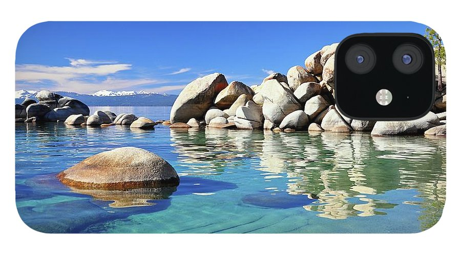Tranquility IPhone 12 Case featuring the photograph East Shore, Lake Tahoe, Nv by Stevedunleavy.com