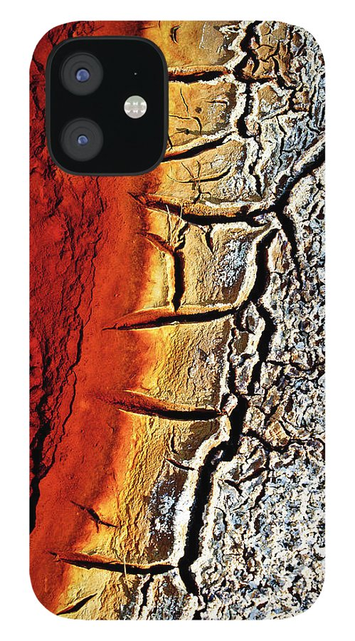 Outdoors iPhone 12 Case featuring the photograph Edge Of Pond In Rio Tinto Mining Area by Jjguisado