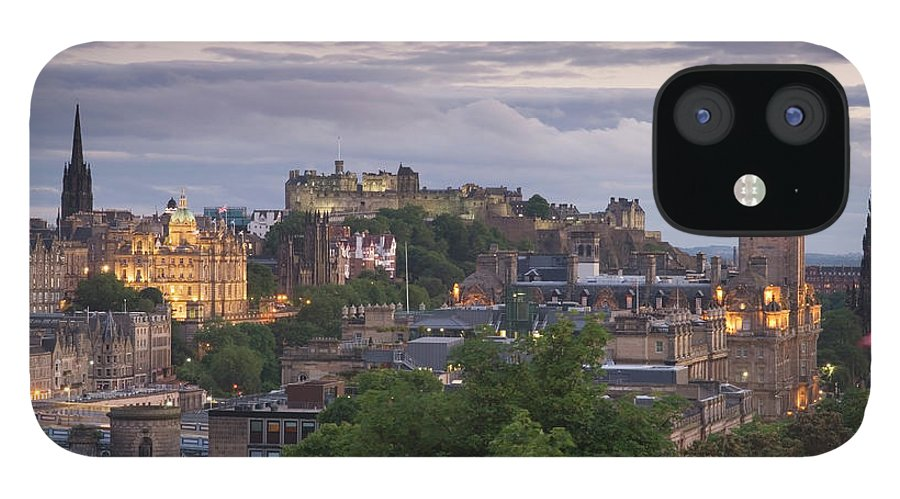Lothian IPhone 12 Case featuring the photograph Edinburgh At Dusk by Northlightimages