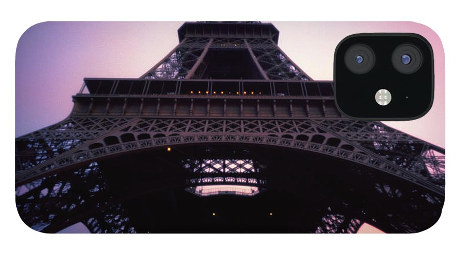 Arch IPhone 12 Case featuring the photograph Eiffel Tower At Sunset by Zeb Andrews
