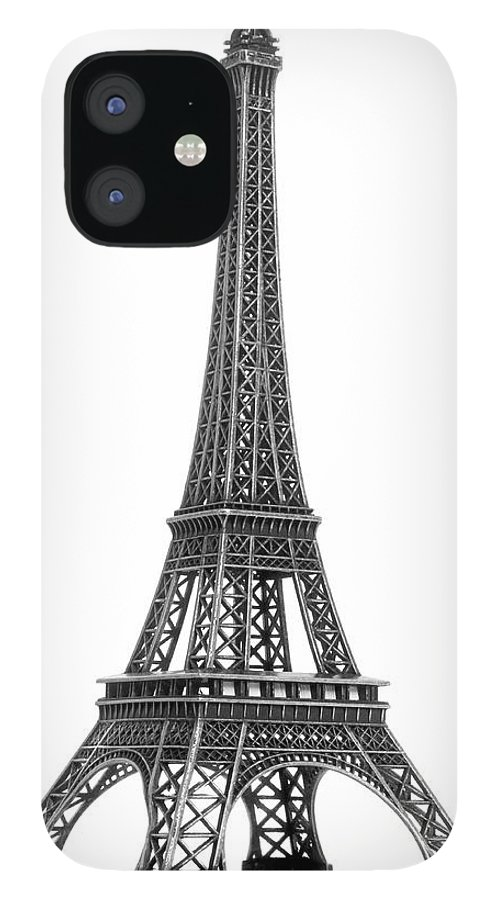 Architectural Model IPhone 12 Case featuring the photograph Eiffel Tower by Jamesmcq24