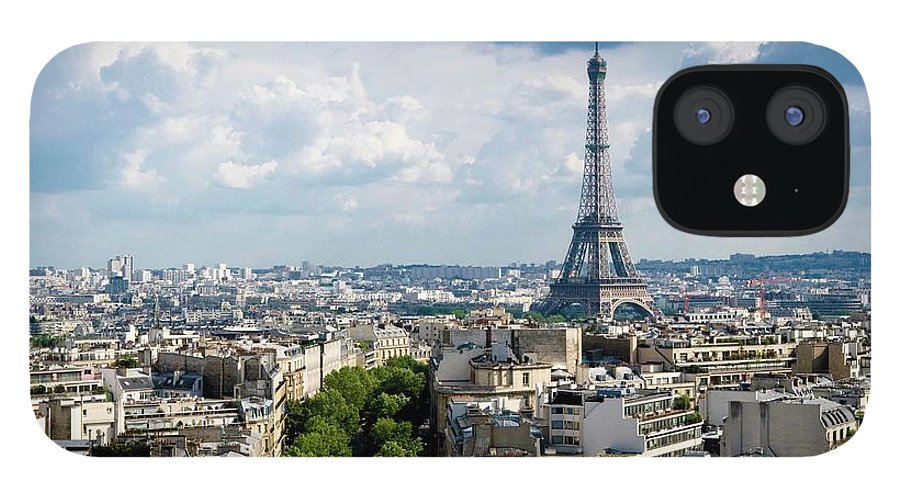 Eiffel Tower IPhone 12 Case featuring the photograph Eiffel Tower View From Arc De Triomphe by Keith Sherwood