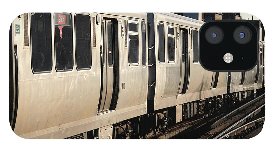 Railroad Track IPhone 12 Case featuring the photograph Elevated Train Descends Into Subway by Bruce Leighty